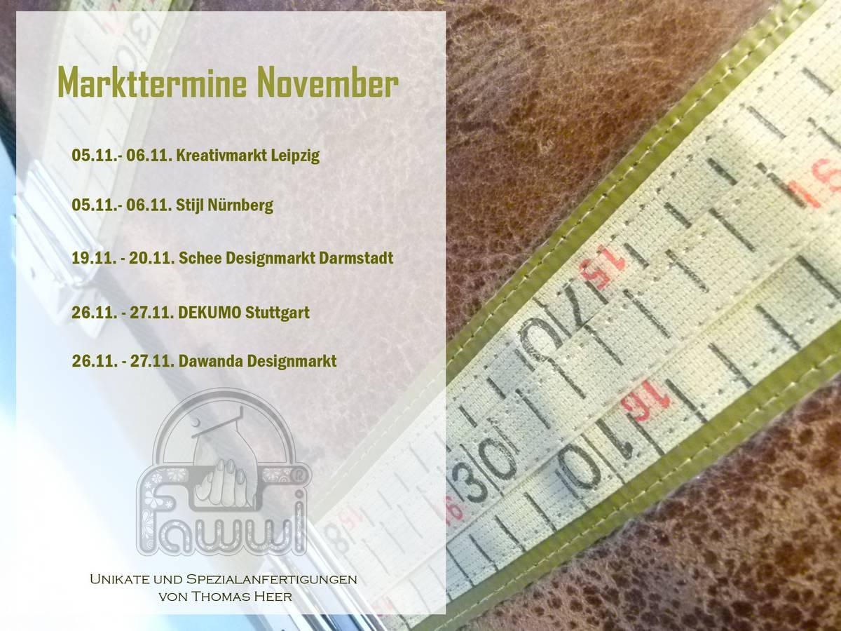 Markt& Messetermine November